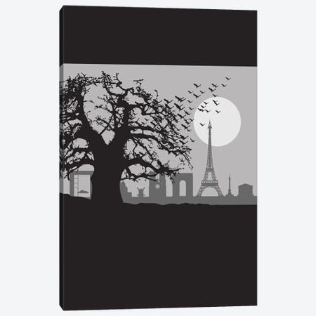 The Birds of Paris Canvas Print #SKW65} by SKYWORLDPROJECT Canvas Wall Art