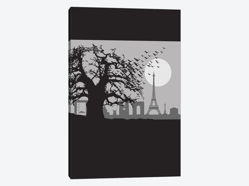 The Birds of Paris by SKYWORLDPROJECT 1-piece Canvas Artwork