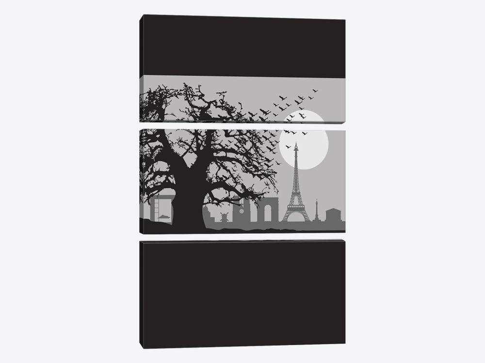 The Birds of Paris by SKYWORLDPROJECT 3-piece Canvas Artwork
