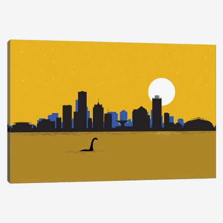Milwaukee visitor Canvas Print #SKW67} by SKYWORLDPROJECT Canvas Artwork