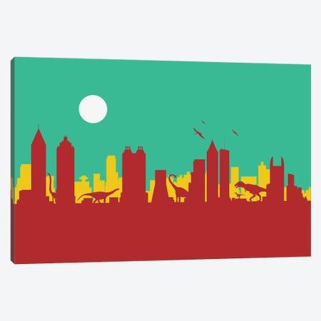 Atlanta Dinosaurs Canvas Print #SKW6} by SKYWORLDPROJECT Canvas Wall Art