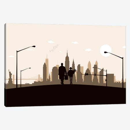 New York walk Canvas Print #SKW70} by SKYWORLDPROJECT Canvas Artwork