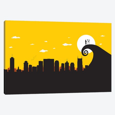A nightmare in Nashville Canvas Print #SKW72} by SKYWORLDPROJECT Canvas Artwork
