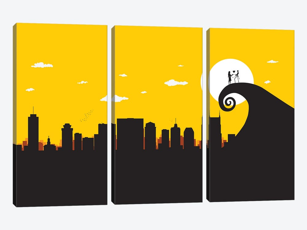 A nightmare in Nashville by SKYWORLDPROJECT 3-piece Canvas Artwork