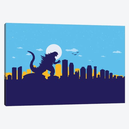 New Orleans Monster Canvas Print #SKW74} by SKYWORLDPROJECT Canvas Print