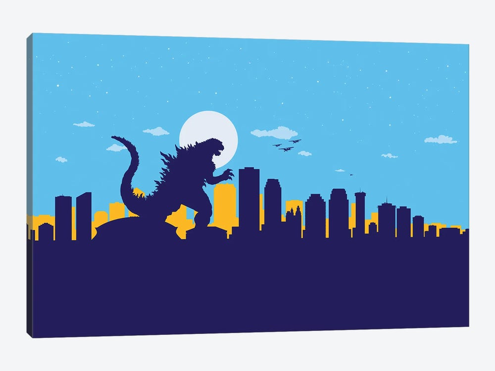 New Orleans Monster by SKYWORLDPROJECT 1-piece Canvas Art