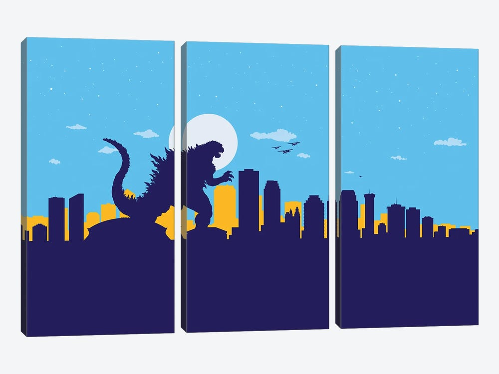 New Orleans Monster by SKYWORLDPROJECT 3-piece Canvas Wall Art