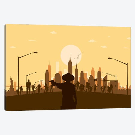 New York Zombies Canvas Print #SKW76} by SKYWORLDPROJECT Art Print
