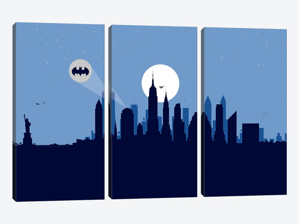New York Justice by SKYWORLDPROJECT 3-piece Canvas Art Print