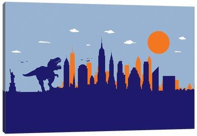 New York T-Rex Canvas Art Print