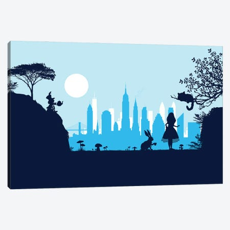 Alice in New York Canvas Print #SKW79} by SKYWORLDPROJECT Canvas Art