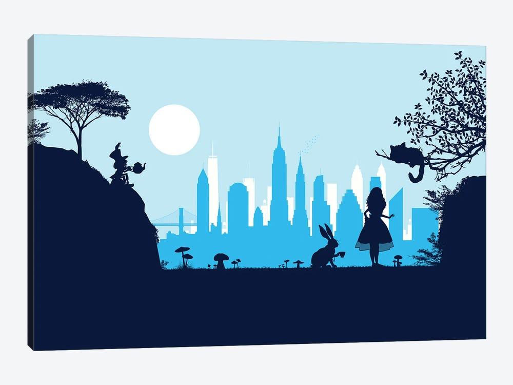 Alice in New York by SKYWORLDPROJECT 1-piece Canvas Print
