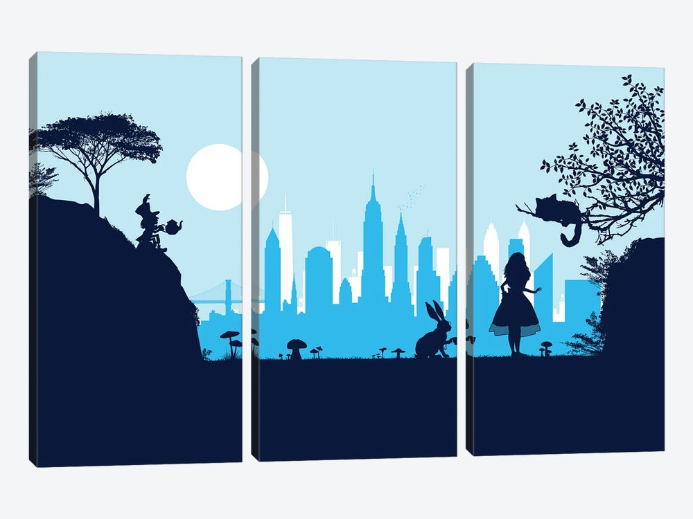 Alice in New York by SKYWORLDPROJECT 3-piece Art Print