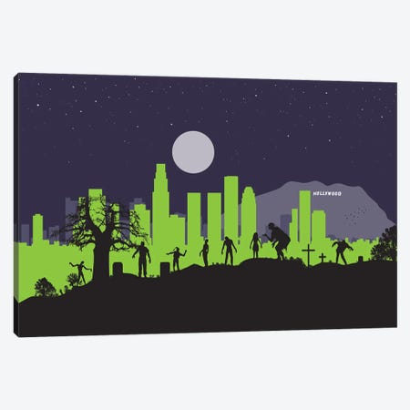 L.A. Zombies Canvas Print #SKW80} by SKYWORLDPROJECT Canvas Print