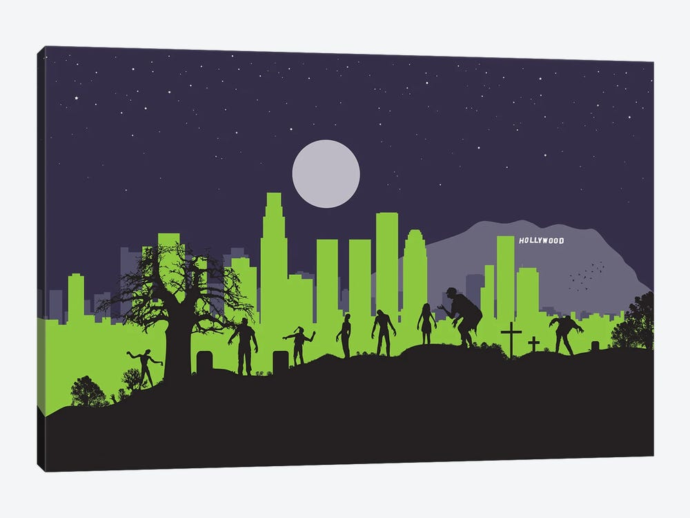 L.A. Zombies by SKYWORLDPROJECT 1-piece Canvas Art Print