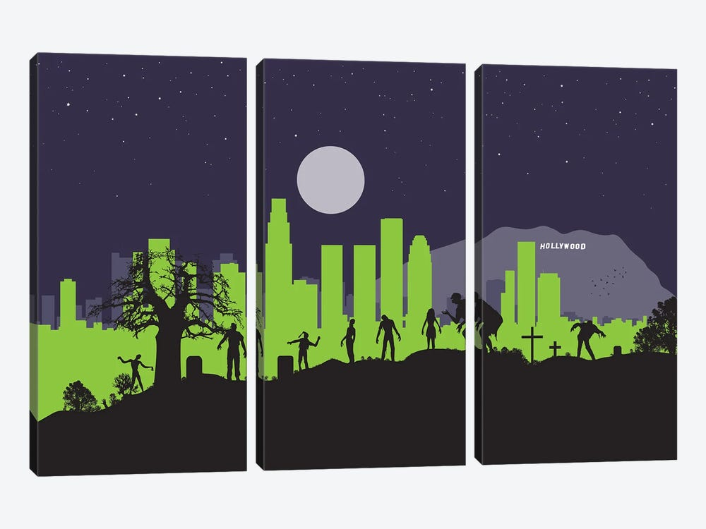 L.A. Zombies by SKYWORLDPROJECT 3-piece Art Print