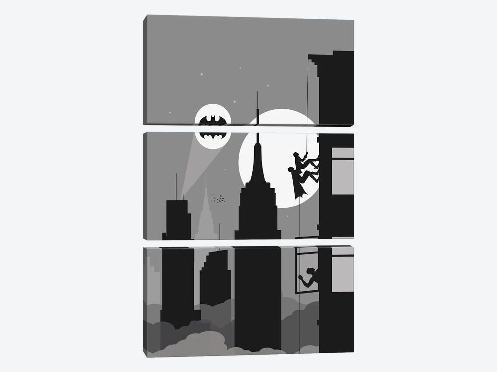 New York climbing II by SKYWORLDPROJECT 3-piece Canvas Art Print
