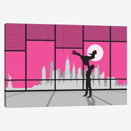 New York Dancing Canvas Print #SKW86} by SKYWORLDPROJECT Canvas Wall Art