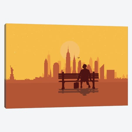 New York Bench Canvas Print #SKW87} by SKYWORLDPROJECT Canvas Art