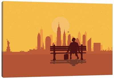 New York Bench Canvas Art Print