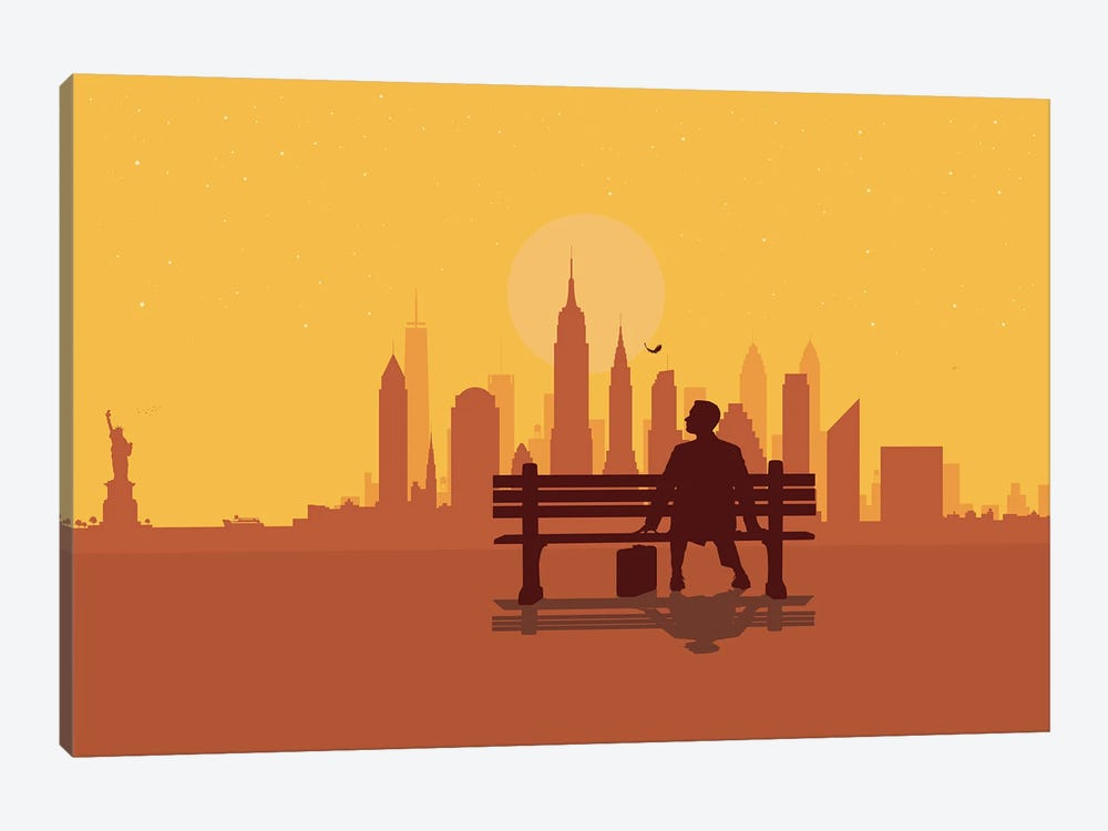 New York Bench by SKYWORLDPROJECT 1-piece Canvas Artwork
