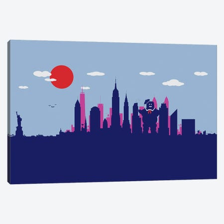 New York Sweet Monster Canvas Print #SKW89} by SKYWORLDPROJECT Canvas Print
