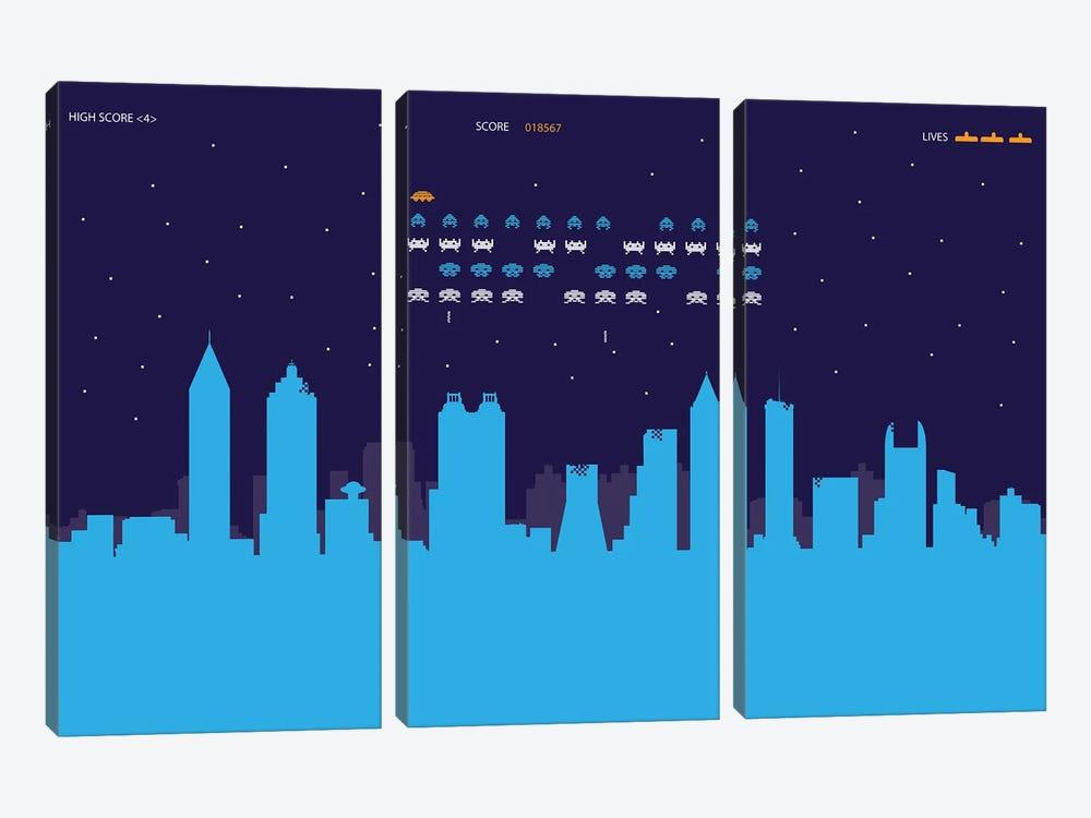 Atlanta Invaders by SKYWORLDPROJECT 3-piece Art Print