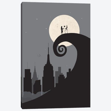 A nightmare in Manhattan Canvas Print #SKW90} by SKYWORLDPROJECT Canvas Artwork