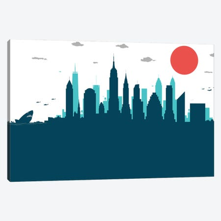 New York Jaws Canvas Print #SKW91} by SKYWORLDPROJECT Canvas Wall Art