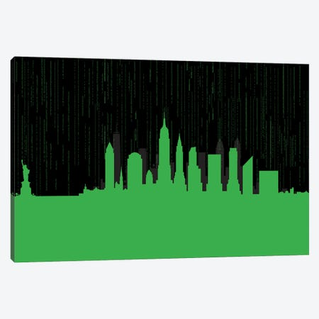 New York code Canvas Print #SKW93} by SKYWORLDPROJECT Canvas Artwork