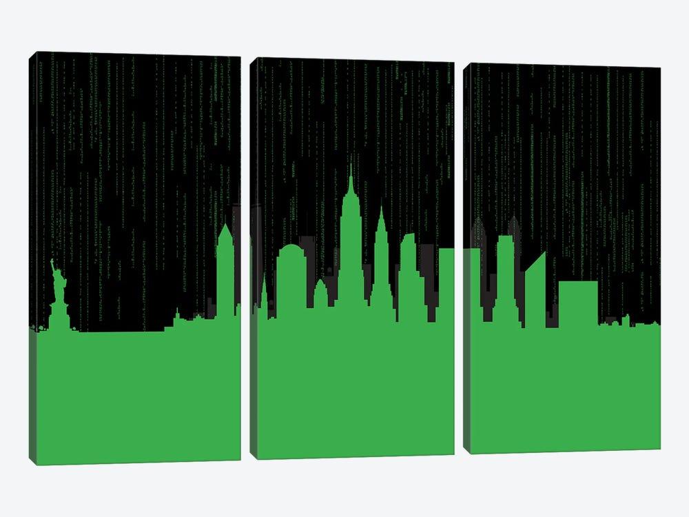 New York code by SKYWORLDPROJECT 3-piece Art Print