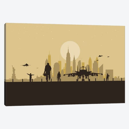 New York Air Force Canvas Print #SKW94} by SKYWORLDPROJECT Canvas Art Print