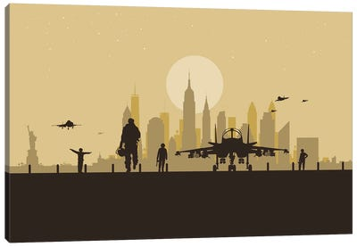 New York Air Force Canvas Art Print