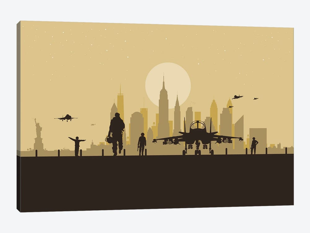 New York Air Force by SKYWORLDPROJECT 1-piece Canvas Artwork