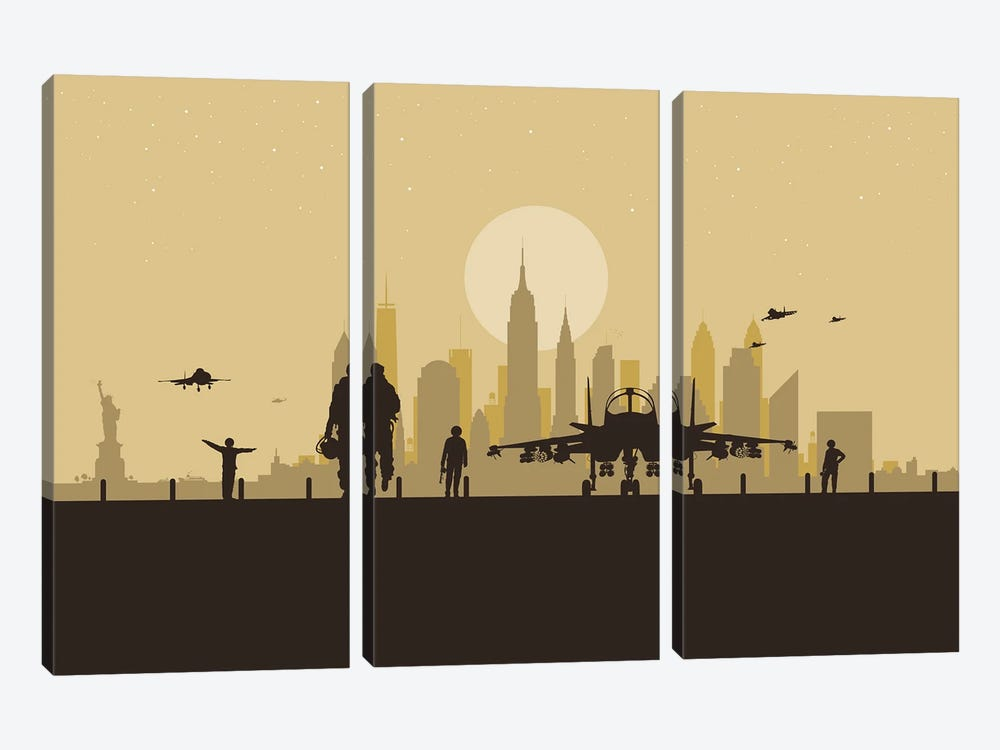 New York Air Force by SKYWORLDPROJECT 3-piece Canvas Artwork