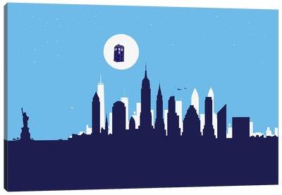 New York Police Flying Cabin Canvas Art Print