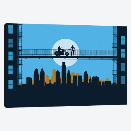 Philadelphia visitors Canvas Print #SKW96} by SKYWORLDPROJECT Canvas Print