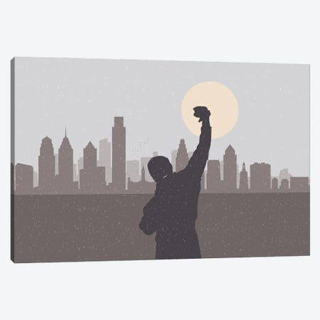 Philadelphia Hero Canvas Print #SKW97} by SKYWORLDPROJECT Canvas Print