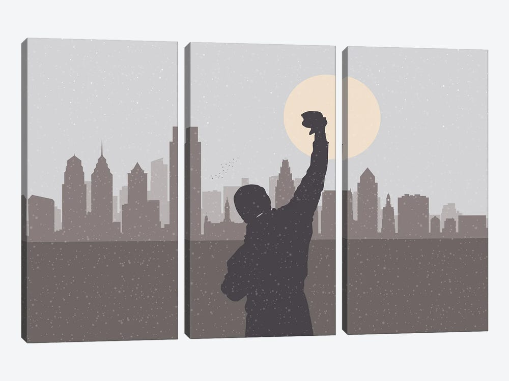 Philadelphia Hero by SKYWORLDPROJECT 3-piece Canvas Print