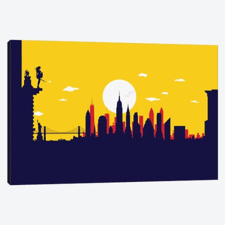 New York Wonder Protector Canvas Print #SKW99} by SKYWORLDPROJECT Canvas Art