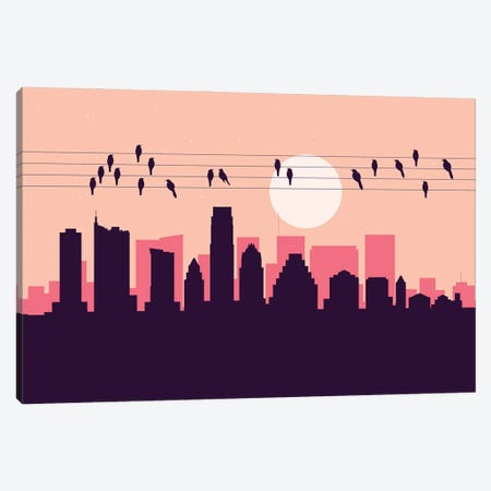 Austin Birds Canvas Print #SKW9} by SKYWORLDPROJECT Canvas Art Print