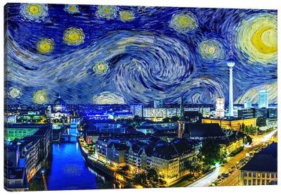 Berlin, Germany Starry Night Skyline Canvas Art Print