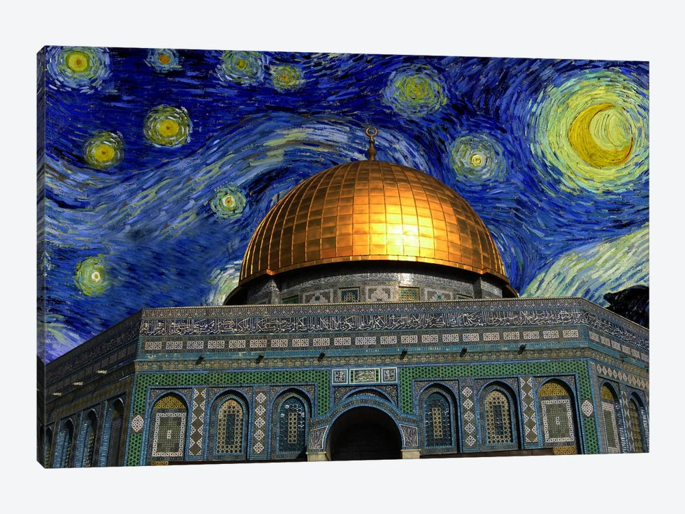 Jerusalem, Israel Starry Night Skyline by iCanvas 1-piece Canvas Art Print