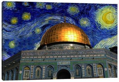Jerusalem Starry Night Skyline Canvas Art Print