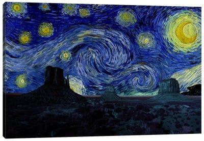 Phoenix, Arizona Mountain Starry Night Skyline Canvas Art Print