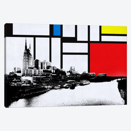 Nashville, Tennessee Skyline with Primary Colors Background Canvas Print #SKY16} by Unknown Artist Canvas Art Print