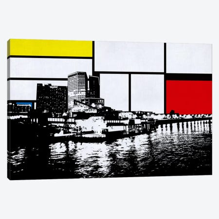 New Orleans, Louisiana Skyline with Primary Colors Background Canvas Print #SKY17} by Unknown Artist Canvas Art Print