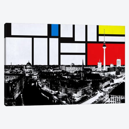 Berlin, Germany Skyline with Primary Colors Background Canvas Print #SKY2} by iCanvas Canvas Art Print