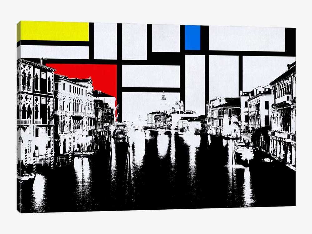 Venice, Italy Skyline with Primary Colors Background by iCanvas 1-piece Art Print