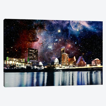 Austin, Texas Carina Nebula Skyline Canvas Print #SKY34} by 5by5collective Art Print